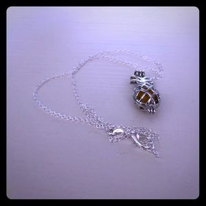 Jewelry - NEW Pineapple Silver Plated Diffuser Necklace